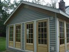 Exterior of Sunroom Addition matching siding